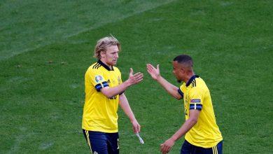 صورة «السويد» تتغلب بصعوبة على «سلوفاكيا» وتتصدر المجموعة مؤقتا باليورو