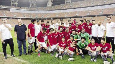 صورة المنتخب المصري الأولمبي يختتم استعداداته لمواجهة جنوب أفريقيا