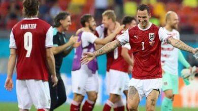 """صورة النمسا تلحق بهولندا وتتأهل إلى دور ال 16 من """"يورو 2020"""" بعد فوزها على أوكرانيا (1/0)"""