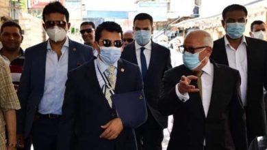 صورة بمشاركة محافظ بورسعيد ووزير الرياضة وضع حجر أساس استاد النادي المصري
