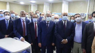 """صورة """"القاضي وعبدالنبي"""" يفتتحان وحدة العناية المركزة المقدمة من بنك الشفاء لمستشفي الاستقبال بجامعة المنيا"""