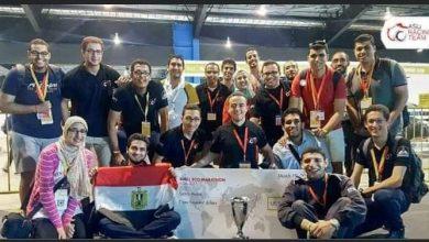صورة فريق سباقات جامعة عين شمس الثالث عالميا والأول عربيا وأفريقيا بمسابقة فورميولا