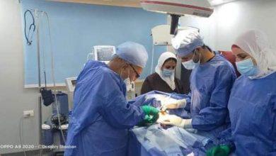 صورة إجراء 96 عملية مجانية خلال يوم واحد بمستشفى مطروح العام