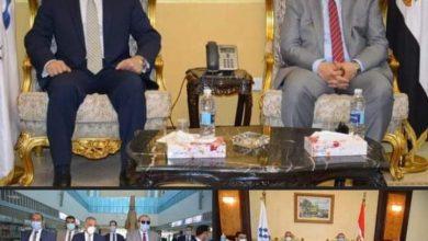 """صورة """"الفقي"""" يستقبل وزير القوى العاملة في زيارته لمحافظة سوهاج"""