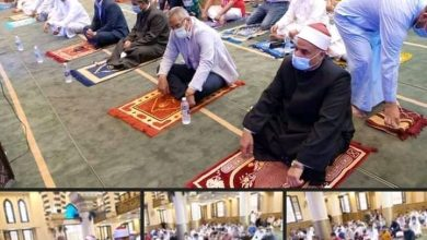 صورة عزبة عثمان تفتتح مسجدها بكفر الشيخ