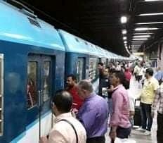 صورة تصاعد وتيرة التجاوزات من قبل محصلين القطارات تثير الرأى العام