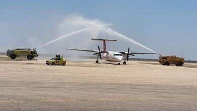 صورة مطار بورسعيد يستقبل أول رحلة طيران داخلية