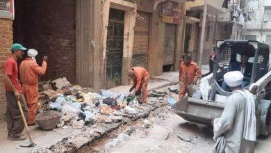 صورة تكثيف حملات النظافة بشوارع حي شرق سوهاج