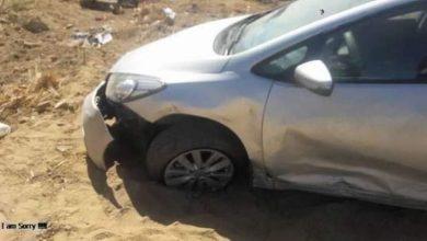 صورة إصابة أسرة كاملة في حادث تصادم بالفيوم