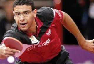 صورة عمر عسر لاعب تنس الطاوله يدخل التاربخ الاوليمبى