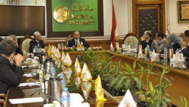 صورة مجلس جامعة المنيا: 8 أغسطس اختبارات القدرات للكليات
