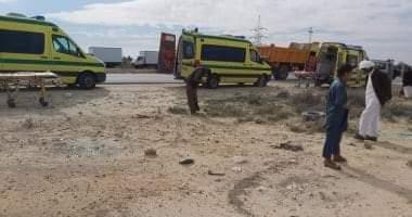 صورة إصابة 2 فى حادث انقلاب سيارة ملاكي بأخميم سوهاج