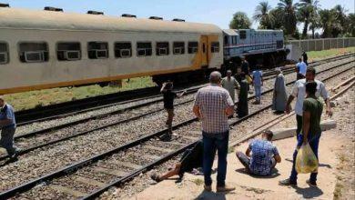 صورة عاجل.. إصابة 2 في تصادم قطار نجع حمادي