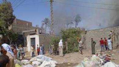 صورة «شرز كهربائي تطاير على القطن».. الحماية المدنية ببني سويف تكشف سبب حريق مخزن أقطان