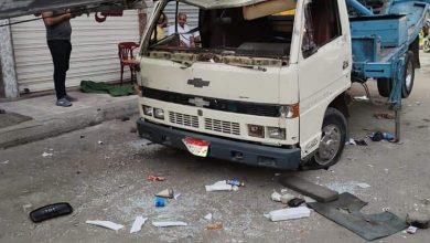 صورة إصابة شخصين سقط عليهما «ونش» من الطابق الخامس شرق الإسكندرية