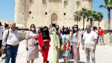 صورة زيارة المؤثرين العرب لقلعة قايتباي بالإسكندرية للترويج للمقصد المصري