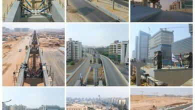 صورة بالصور.. تقدم أعمال تنفيذ مونوريل العاصمة الإدارية الجديدة