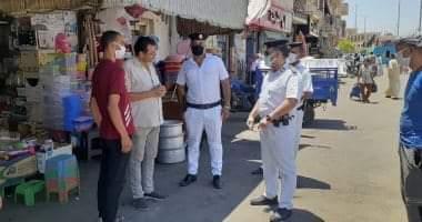 صورة إيقاف حفر بالمخالفة للقانون وتحرير 123 محضرا متنوعا فى حملات بشوارع الأقصر