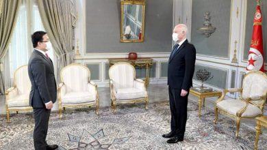 صورة رئيس الجمهورية التونسية يستقبل رئيس مؤسسة هواوي لمنطقة شمال إفريقيا بقصر قرطاج