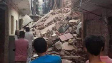صورة انهيار منزل في مدينة دمنهور بالبحيرة