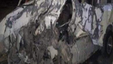 صورة مصرع شخص وإصابة 3 آخرون في حادث تصادم سيارة ربع نقل وتروسكيل بأسيوط