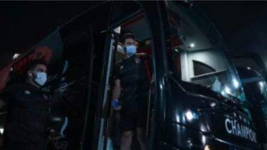 صورة وصول حافلة الأهلي إلى أستاد الإسكندرية
