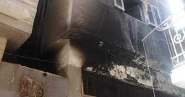 صورة إصابة أسرة من أربعة أشخاص فى حريق داخل شقتهم ببنى سويف