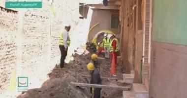 """صورة بدء تنفيذ مشروع الصرف الصحى بقرية طحا البيشة ببنى سويف ضمن """"حياة كريمة"""""""