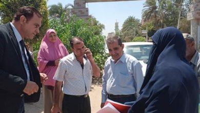 صورة جولة ميدانية لرئيس مدينة ملوي وبرفقته وكيل وزارة الري بالمنيا