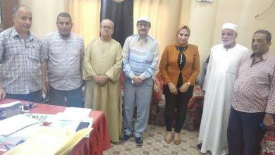 """صورة وفد """"إعلاميين المنيا"""" فى زيارة لنقابة معلمين ملوى"""