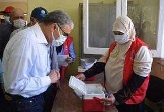 صورة وكيل تعليم المنيا : تطعيم 95% من العاملين بلقاح كورونا