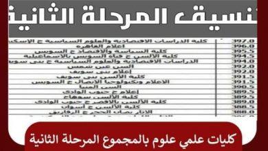 صورة كليات تنسيق المرحلة الثانية بأخر توقعات وزارة التعليم العالي للتقديم تنسيق قبول الجامعات والمعاهد المصرية