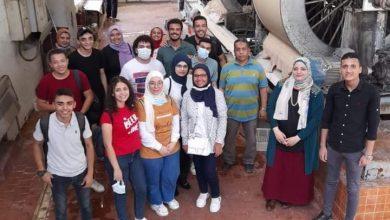 صورة طلاب علوم حلوان يقومون بزيارة ميدانية بشركة السكر و الصناعات التكاملية المصرية بالحوامدية