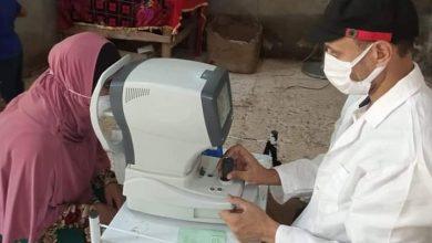 صورة تقديم العلاج لـ 260 حالة في قافلة طبية ببني سويف