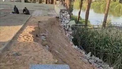 صورة فساد المحليات.. انهيار كورنيش مدينة ديرمواس