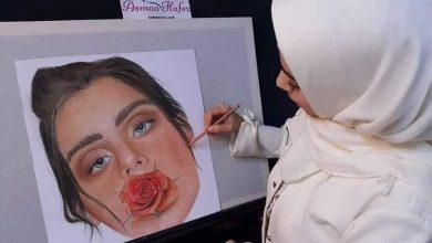 صورة اسماء حافظ تحترف الرسم ومازالت تكمل طريقها