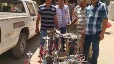 صورة ضبط 20 شيشة و6 مخالفات عدم ارتداء الكمامات في سمالوط بالمنيا