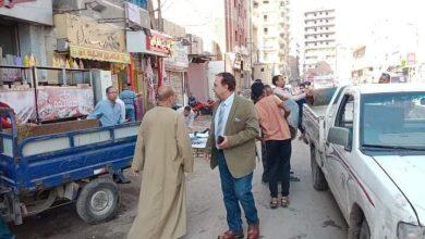 """صورة """" السايس"""" يقود حملة مكبرة لعودة الانضباط والسيولة المرورية بشوارع ملوى"""