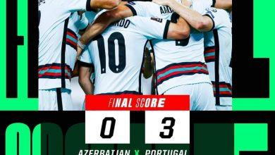 صورة البرتغال تفترس اذربيجان بثلاثية نظيفة بتصفيات كأس العالم