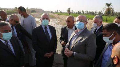 """صورة """" عبد العاطي """"يتابع موقف تنفيذ مشروعات الموارد المائية والرى بمحافظة بنى سويف"""