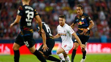 صورة تعادل مثير بين فريق لايبزيج ونظيره كولن في الدوري الألماني(البوندسليجا)