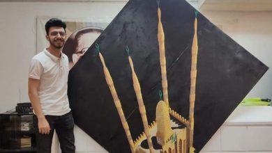 صورة شاهد بالصور .. سعيد سلامة يرسم أكبر مسجد 3D في العالم