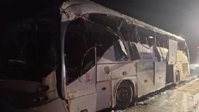 """صورة عاجل: حادث انقلاب أتوبيس بطريق """"السويس- القاهرة"""""""
