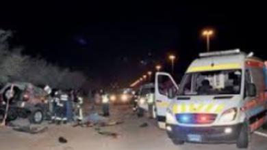 صورة مستشفى المنيا العام تستقبل ضحايا حادث اصطدام سيارة بميكروباص