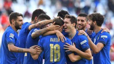 صورة حقق منتخب إيطاليا فوزا مهما علي نظيرة منتخب بلجيكا في دوري الأمم الإروبية