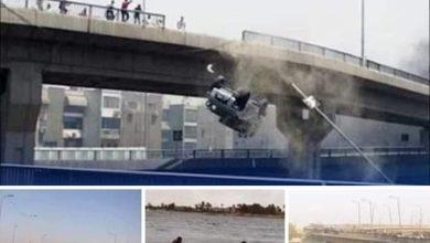 صورة مأساة سقوط ميكروباص من اعلي كوبري الساحل بين القاهرة والجيزة وسقوطه في مياه النيل