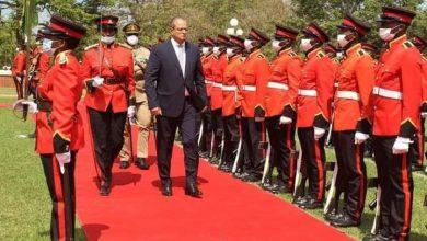 صورة السفير المصري في ليلنجواي يُقدّم أوراق اعتماده إلى رئيس مالاوي