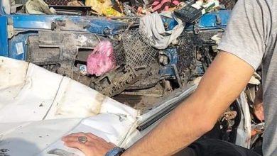 صورة مصرع19 شخصا في حادث تصادم مروع على طريق الدائري الأوسطي بين أكتوبر ودهشور