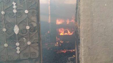 صورة النيران تشتعل في قرية الحرجة بمحافظة سوهاج